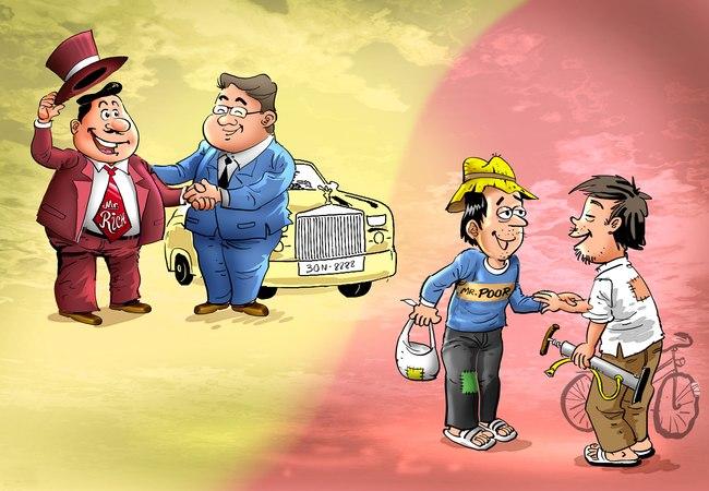 Kết quả hình ảnh cho giàu và nghèo